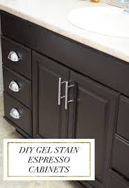 staining oak cabinets an espresso color diy tutorial monica