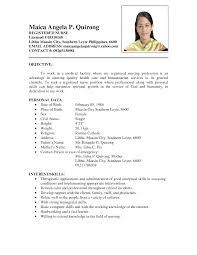 Print Nurse Resume Sample Philippines Ideas Of For Filipino Nurses Rh Brackettville Info