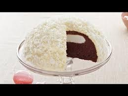gâteau boule de neige au chocolat