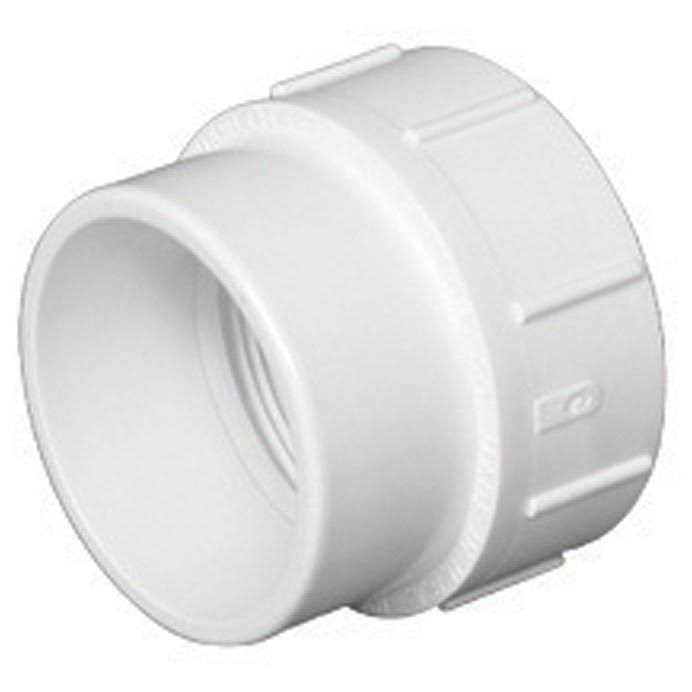 "Charlotte Pipe PVC Cleanout Adapter Fitting - 1 1/2"" Dia"