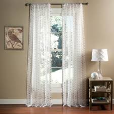Dotted Swiss Kitchen Curtains by Polka Dot Sheer Window Curtain Set Of 2 Walmart Com