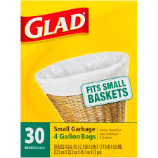 Christmas Tree Trash Bags Walmart by Glad Small Garbage 4 Gallon Bags 30 Ct Walmart Com