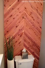 Cedar Safe Bathroom Wall Always Never Done 26