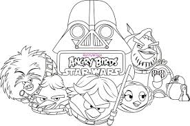 Angry Bird Star Wars Coloring Pages To Print