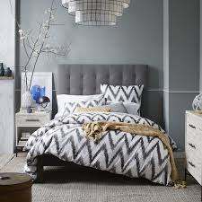 Roma Tufted Wingback Headboard by All White Tall Tufted Headboard Med Art Home Design Posters