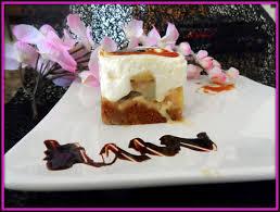 dessert aux pommes sans cuisson cheese cake pommes bananes à la confiture de lait sans cuisson