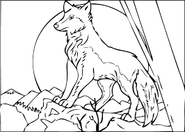 Wolf Pictures To Print And Color