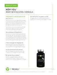It Works New You Body Revitalizing Formula