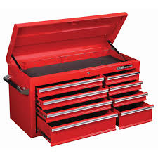 Harbor Freight Sandblast Cabinet Manual by 44 In 8 Drawer Glossy Red Roller Cabinet Top Chest