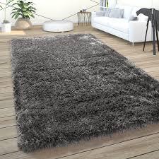 hochflor teppich wohnzimmer shaggy pastell einfarbig weich flauschig anthrazit