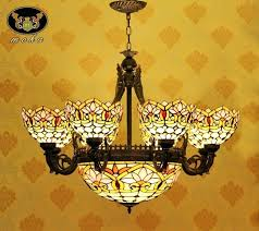 Stained Glass Light Fixture Fixtures Dining Room