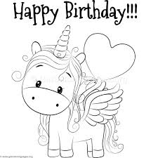 Cute Unicorn Coloring Pages GetColoringPagesorg