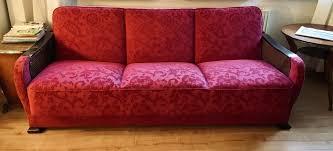 30er 40er sofa schlafsofa rot pink vintage antik amélie