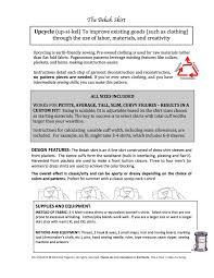 pdf sewing pattern bekah skirt upcycle sewing pattern