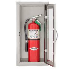 Recessed Fire Extinguisher Cabinet Detail by Bbqguys Com 14 Inch Stainless Steel Raised 10 Lb Fire
