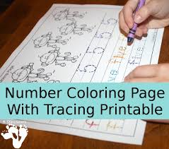 NEW Number Coloring Tracing Printable