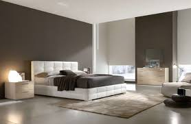 Modern Bedroom Ideas With White Leather Bed Style Featuring Platform