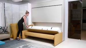 kali duo sofa resource furniture wall bed systems youtube
