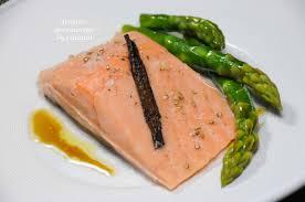 recette cuisine sous vide saumon sous vide basse température vinaigrette au soja et asperges