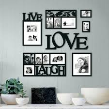 Love Wall Decor New Home Black Hanging Live Laugh 7 Piece Frames