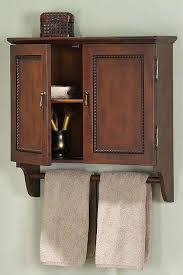 Bathroom Wall Storage Cabinets With Doors by Great Bathroom Wall Cabinet With Towel Holder Design Ideas