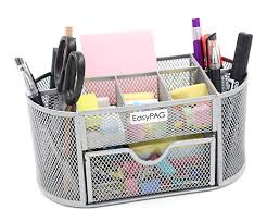 Desk Drawer Organizer Amazon by Amazon Com Easypag Mesh Office Desk Accessories Organizer 9