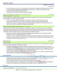 Health Care Executive Resume Sample