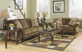 montgomery sofa loveseat set mocha ashley furniture orange