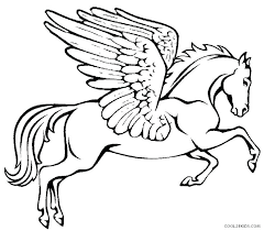 Unicorn Wings Coloring Pages Heart With Of