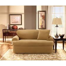 Sectional Sofa Slipcovers Walmart by Living Room Serta Stretch Grid T Cushion Sofa Slipcover In Grey