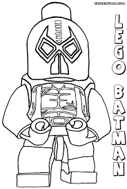 Lego Bane Coloring Page