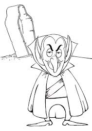 Free Online Vampire Colouring Page