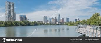 100 Austin City View Panorama People Biking Running Walking Boardwalk Downtown