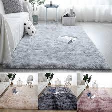 flauschigen teppich plüsch teppich wohnzimmer dicken bett zimmer teppiche anti slip boden wohnzimmer teppiche krawatte färben samt kinder zimmer matte