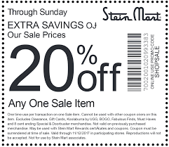 Stein Mart Coupons - Extra 20% Off A Sale Item Today At Smart Fniture Coupon Code Saltgrass Steak House Plano Tx Area 51 Store Scream Zone Coupons Stein Mart The Bargain Bombshell Coupon Codes 3 Valid Coupons Today Updated 20181227 Money Mart Promo Quick Food Ideas For Kids Barcode Nexxus Printable 2019 Bookdepository Discount Codes Promo Fonts Com Hell Creek Suspension Venus Toddler Lunch Box Daycare Discounts Code Travelex