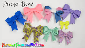 DIY Paper Crafts Bow Ribbon Cute And Easy