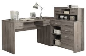 computer desk dark taupe corner contemporary desks and