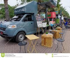 100 Dessert Trucks PATTAYA THAILAND FEBRUARY 3 2017 Food Selling Food And