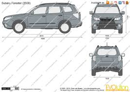 the blueprints vector drawing subaru forester
