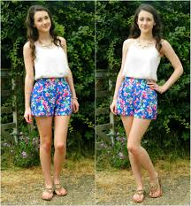 Spring Summer Fashion Floral Prints Oasis Ivory Camisole New Look Blue Pink Shorts Belle