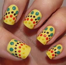 Very Easy Yellow Nail Art Designs Ideas 2013