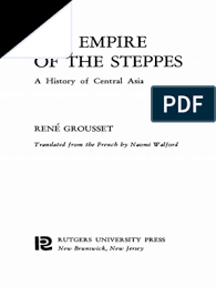 the empire of the steppes history of central asia rene