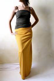 maxi skirt pencil skirt long skirt cotton skirt jersey