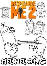 Print Free Colouring Sheets With Minions From Despicable Me 2