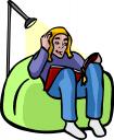 Bean Bag Chair Clipart 1