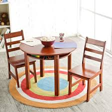 Kidkraft Farmhouse Table And Chair Set Walmart by Lipper Childrens Round Table And Chair Set Hayneedle