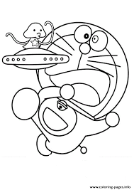 Doraemon With Ufo Cbb6 Coloring Pages Print Download