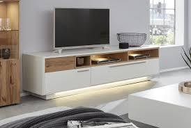 interliving wohnzimmer serie 2102 medienboard mit beleuchtung helles asteiche furnier weißer mattlack breite ca 215