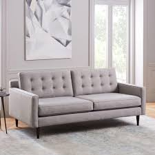 Drake Sofa 193 Cm Platinum Twill West Elm UK