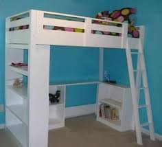 Loft Bed Woodworking Plans by Child Youth Teen Loft Bed Plan Build Your Own Diy Woodworking
